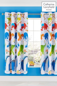 Dinosaw Blackout Eyelet Curtains by Catherine Lansfield