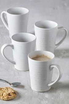 Set of 4 Pearl Bronx Mugs