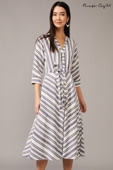 Phase Eight Blue Sansa Stripe Dress