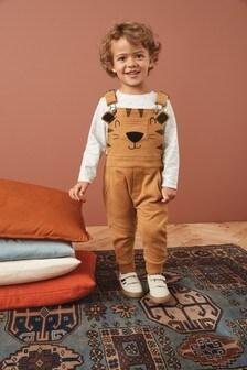 Tiger Jersey T-Shirt & Dungaree Set (3mths-7yrs)