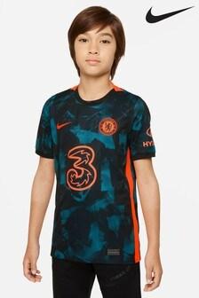 Nike Older Boys Blue Chelsea 21/22 Third Kids Football Shirt