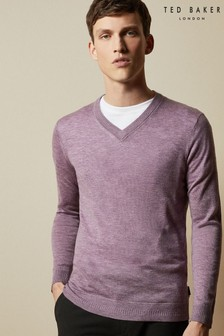 Ted Baker Minvee Knitted V-Neck Jumper
