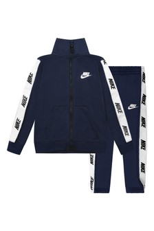 Boys Navy Tricot Tracksuit