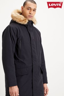 Levi's® Black Faux Fur Hood Parka Jacket