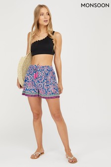 Monsoon Neena Printed Ecovero Shorts