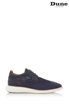 Dune London Blue Barbed Wedge Sole Lace Up Brogue Shoes