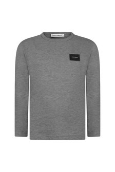 Boys Grey Cotton Jersey Top