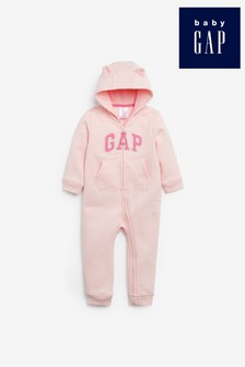Gap Baby Classic Logo Romper With Ears