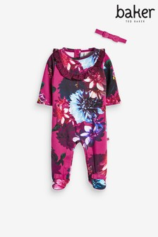 Baker by Ted Baker Baby Girl Frill Sleepsuit