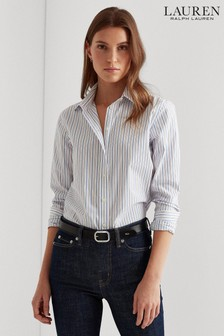 Lauren Ralph Lauren® Blue/White Stripe Jamelko Shirt