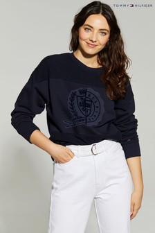 Tommy Hilfiger Blue Icon Crest Graphic Sweatshirt