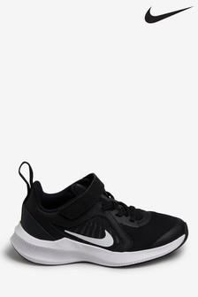 Nike Run Black/White Downshifter 10 Junior Trainers