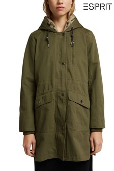 Esprit Recycled Parka With Organic Cotton