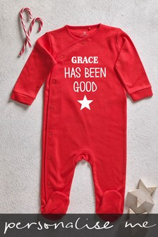 Personalised I've Been Good Sleepsuit