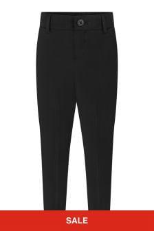 Boys Black Wool Suit Trousers