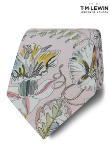 T.M. Lewin Liberty Fabric Wide Pink Kew Road Cotton Tie