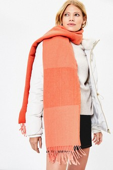 Oasis Orange Penny Supersoft Scarf