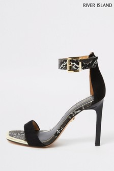 River Island Black Nelly Barely Sandals