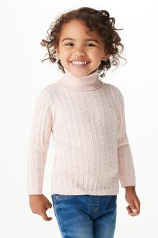 Cable Roll Neck Jumper (3mths-7yrs)