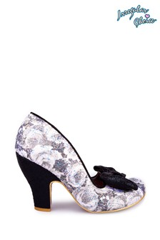 Irregular Choice Black Nick Of Time Court Shoes