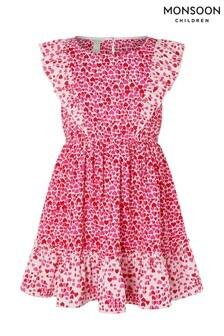 Monsoon Red Aria Heart Dress