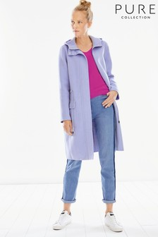 Pure Collection Lilac Double Faced Parka Coat