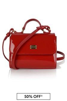 Dolce & Gabbana Kids Girls Patent Leather Bag