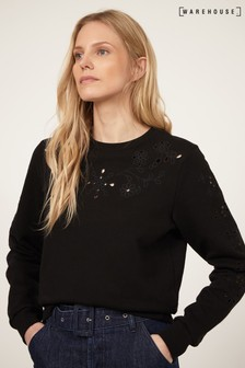 Warehouse Cutwork Sweater
