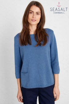 Seasalt Blue Golden Dawn Jumper