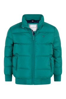 Boys Green Flag Padded Jacket