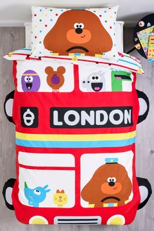 Shaped Hey Duggee Bus Duvet Cover and Pillowcase Set