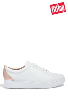 FitFlop White Rally Metallic Backtab Sneakers