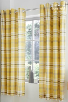 Kelso Check Eyelet Curtains by Catherine Lansfield