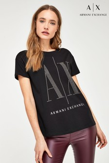 Armani Exchange Stud Icon Logo T-Shirt