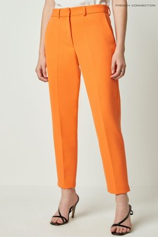 French Connection Orange Adisa Sundae Suiting Tailored Trousers