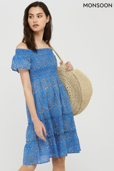 Monsoon Blue Wren Dress