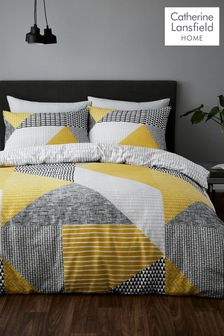 Catherine Lansfield Exclusive To Next Larsson Geo Duvet Cover and Pillowcase Set