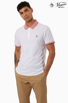 Original Penguin White Stars And Stripe Polo