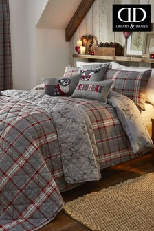 D&D Ludlow Check Brushed Cotton Flannel Duvet Cover and Pillowcase Set