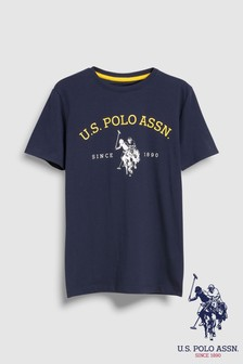 U.S. Polo Assn. Navy Graphic Tee