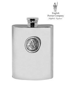 English Pewter Company Monogram Hipflask