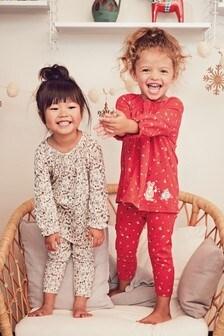 2 Pack Character Smock Top And Leggings Pyjamas (9mths-8yrs)