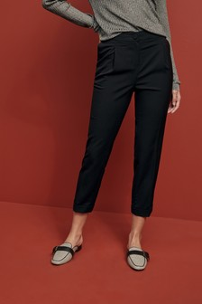 Elastic Back Taper Trousers