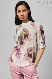 Ted Baker Ivory Puff Sleeve Top