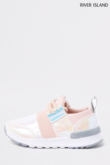 River Island Holographic White Trainer