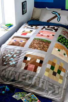 Minecraft Duvet Cover and Pillowcase Set