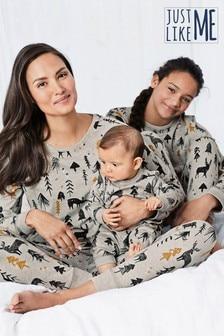 Dziecięca pidżama Matching Family z motywem lasu (0m-cy-16lata)