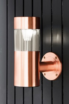 Outdoor Solar Copper Wall Light