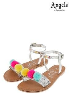 Angels by Accessorize Pom Pom Glitter Sandal