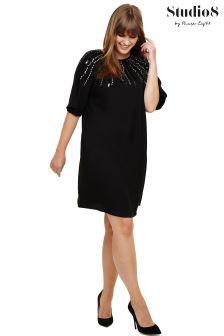 Studio 8 Black Carrie Beaded Dress